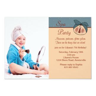 Pampered Beauty Photo Birthday Party Invitation