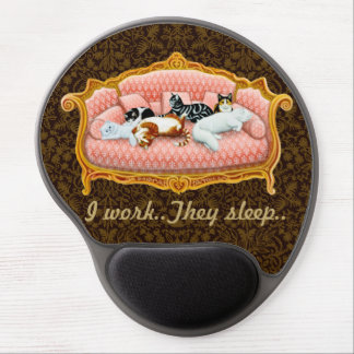 Pampered Housecats Computer Mousepad Gel Mouse Pad