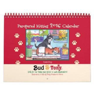 Pampered Kitties 2016 Calendar