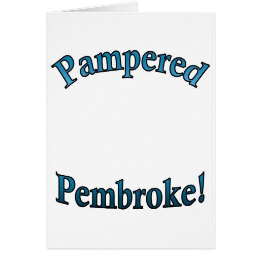 Pampered Pembroke - TealTemplate Card