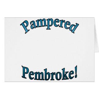 Pampered Pembroke - TealTemplate Greeting Card