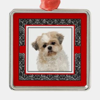 Pampered Pet Elegant Damask Dog / Cat Photo Metal Ornament