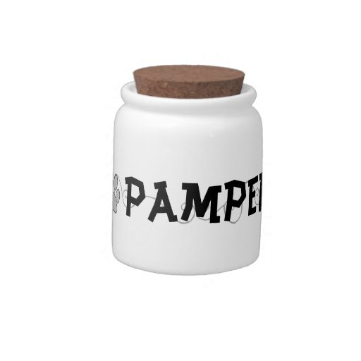 Pampered Pet Treat Jar Candy Dish