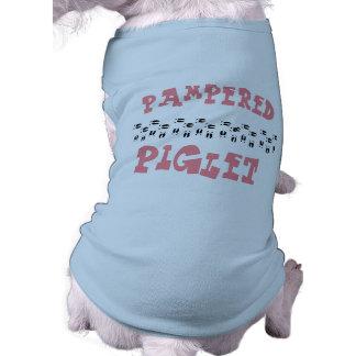 """Pampered Pig"" Mini Pig or Dog Tanktop Shirt"