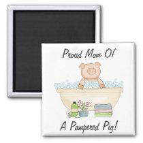 Pampered Piggy Magnet