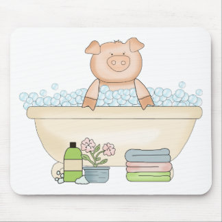 Pampered Piggy Mouse Pad