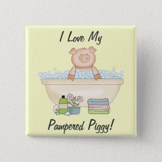 Pampered Piggy Pinback Button