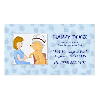 Pampered Poodle Grooming Business Cards