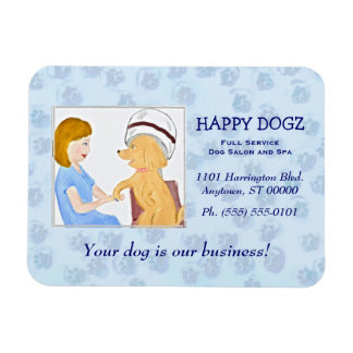 Pampered Poodle Grooming Business Magnet