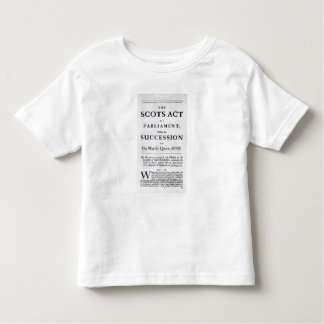Pamphlet announcing toddler t-shirt