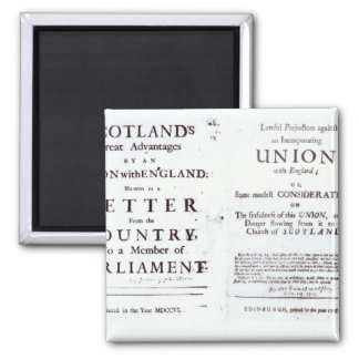 Pamphlets showing both sides 2 inch square magnet