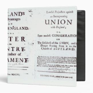 Pamphlets showing both sides 3 ring binder