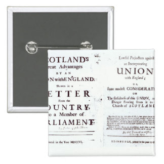 Pamphlets showing both sides 2 inch square button
