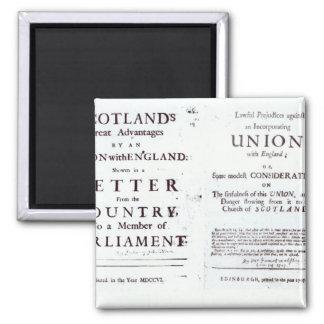 Pamphlets showing both sides magnet