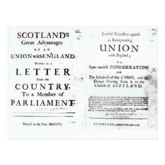 Pamphlets showing both sides postcard