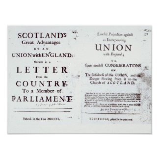 Pamphlets showing both sides poster