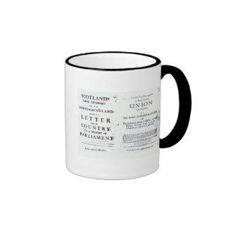Pamphlets showing both sides ringer mug