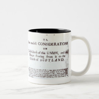 Pamphlets showing both sides Two-Tone coffee mug