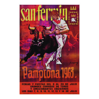 Pamplona 1963 poster