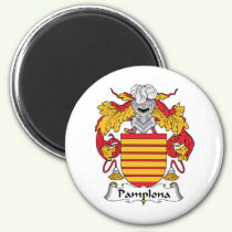 Pamplona Family Crest Magnet