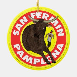 Pamplona - San Fermin Ceramic Ornament