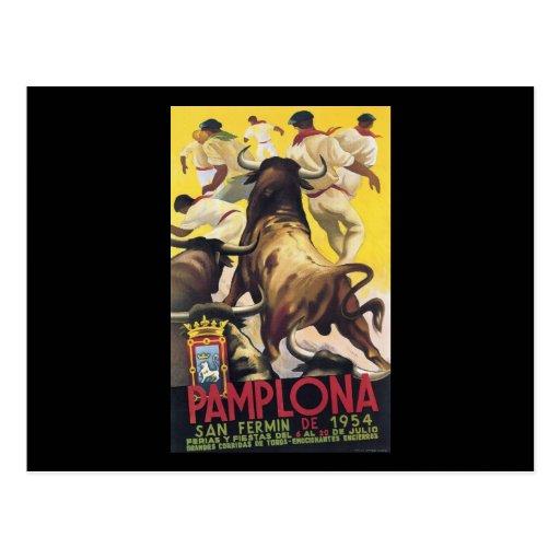 Pamplona San Fermin Postcard