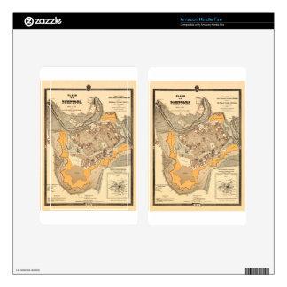 Pamplona Spain 1882 Kindle Fire Decal