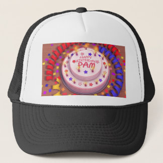 Pam's Birthday Cake Trucker Hat