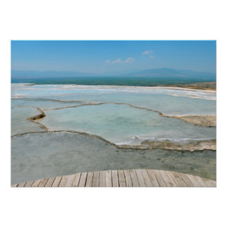 pamukkale turkey tourism travel hierapolis poster