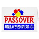 Pan ácimo del Passover Felicitacion