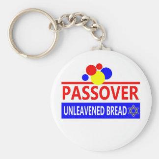 Pan ácimo del Passover Llavero Redondo Tipo Pin