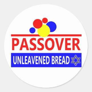 Pan ácimo del Passover Pegatina Redonda