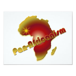 Pan-Africanism 4.25x5.5 Paper Invitation Card