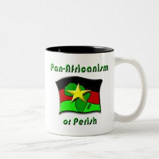 Pan-Africanism or Perish #2 Two-Tone Coffee Mug