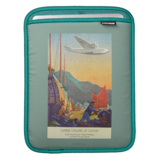 Pan-American Clipper Flying Over China iPad Sleeves