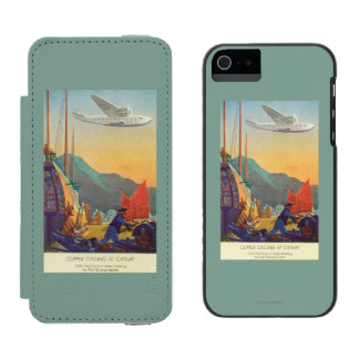 Pan-American Clipper Flying Over China iPhone SE/5/5s Wallet Case