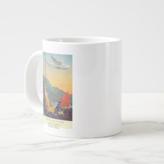 Pan-American Clipper Flying Over China Large Coffee Mug
