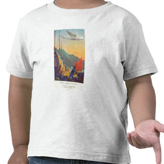 Pan-American Clipper Flying Over China Shirts