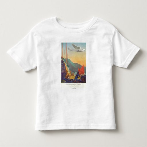Pan-American Clipper Flying Over China Toddler T-shirt