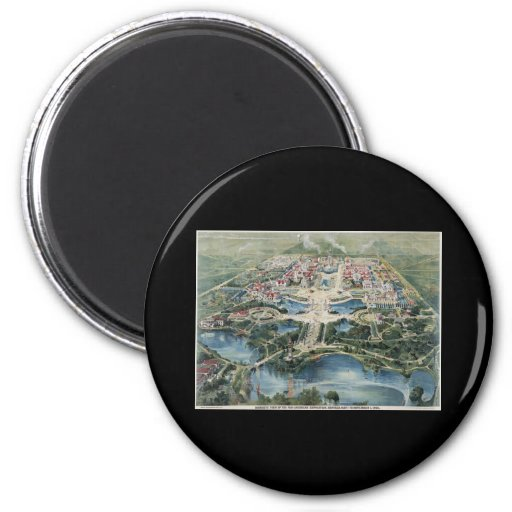 Pan American Exposition Buffalo1901 2 Inch Round Magnet
