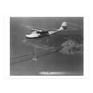 Pan American Philippine Martin Clipper over Postcard