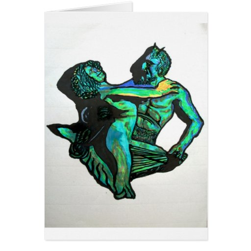 Pan and the Maenad Greeting Cards