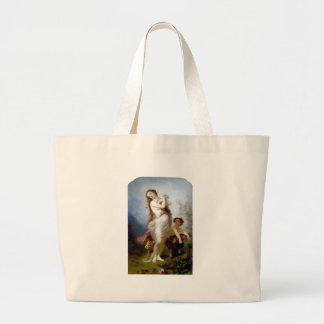 pan autumn mythological antique painting harvest tote bags