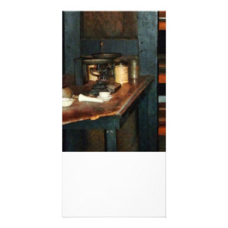 Pan Balance and Alum Photo Card Template