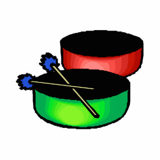 pan black head drums with mallets music percussion photo cutout