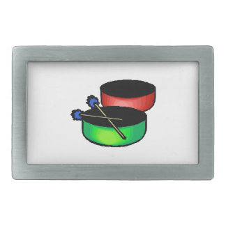 pan black head drums with mallets music percussion rectangular belt buckle