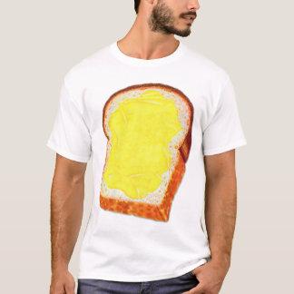 Pan blanco y mantequilla del kitsch retro del playera