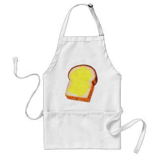 Pan blanco y mantequilla del kitsch retro del vint delantal