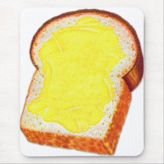 Pan blanco y mantequilla del kitsch retro del vint alfombrillas de ratones