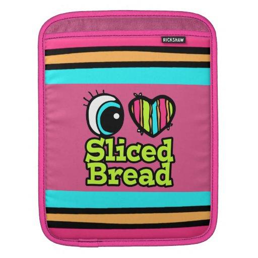 Pan cortado amor brillante del corazón I del ojo Funda Para iPads